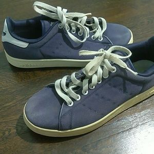 Adidas Stan Smith blue lace up sneakers size 9